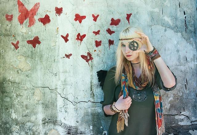 hippie móda