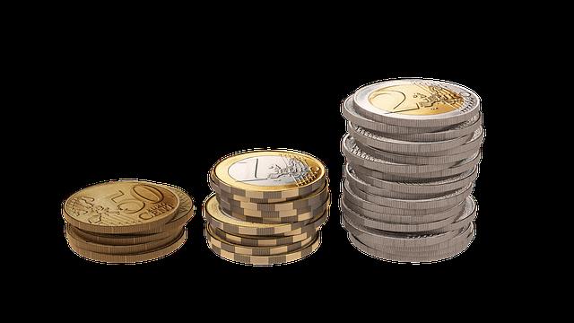 euro mince, tři sloupky